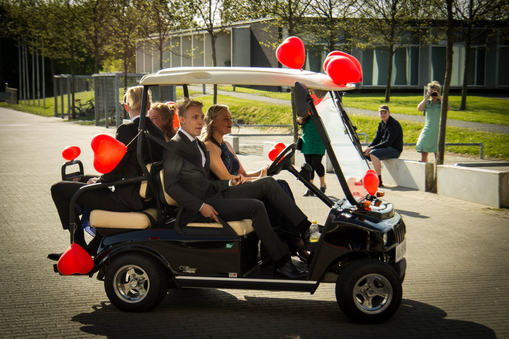 Til galla i golfbuggy